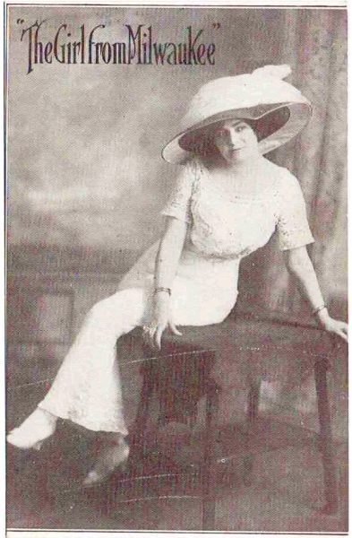 """Known only as """"The Girl from Milwaukee,"""" this woman toured the vaudeville circuit around the United States as a singer during the early twentieth century."""