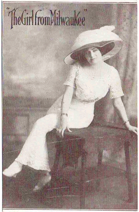 "Known only as ""The Girl from Milwaukee,"" this woman toured the vaudeville circuit around the United States as a singer during the early twentieth century."