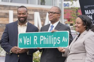 In 2018, a section of N. 4th Street was named Vel R. Phillips Avenue in honor of her achievements as a politician, judge, and civil rights activist in Milwaukee.
