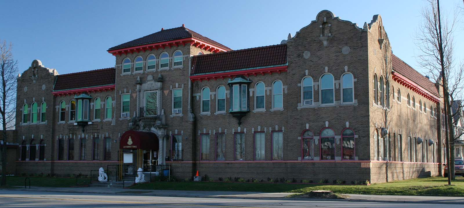 The Lao Buddhist Temple on National Avenue practices Theravada Buddhism and is operated by members of the Laotian community. The building in which it is located was constructed for a fraternal order in 1927 and is listed on the National Register of Historic Places.