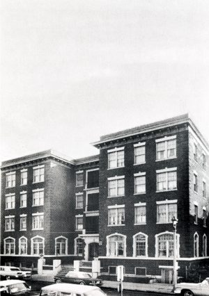 The St. Catherine's Home for Working Girls, pictured here, was located on W. Michigan Street before the move to 1032 E. Knapp Street and name change in 1966  This image is from a fundraising booklet for the Knapp Street location.