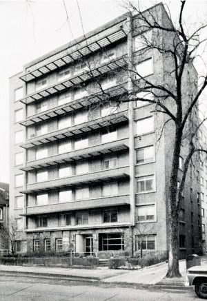 This is the exterior of the St. Catherine's Residence for Young Women on E. Knapp Street, where the organization moved in 1966.