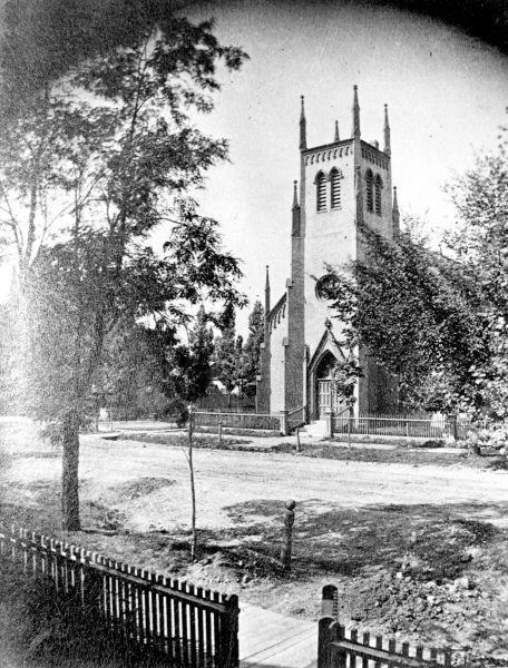 The North Presbyterian Church was built in 1851 at the corner of what is today E. State and N. Milwaukee Streets. In 1871, a Welsh congregation purchased the building, and it operated as the Welsh Presbyterian Church until 1954.