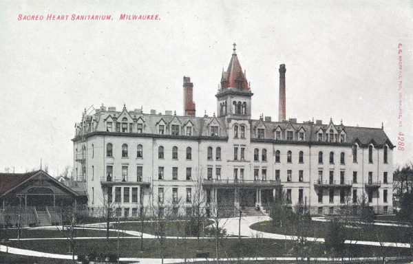 Sacred Heart Sanitarium opened in 1893 and was one of several private institutions established in Milwaukee to treat and house individuals with mental disabilities.