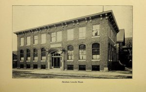 """The Abraham Lincoln House, pictured here shortly after it opened in 1910, was financed with proceeds from Lizzie Black Kander's successful publication, """"The Settlement Cookbook."""""""