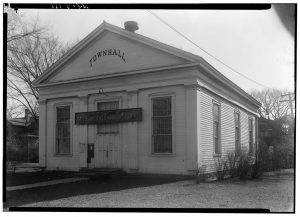 The first town hall for the Town of Waukesha, pictured here in the 1930s, was built in 1842.