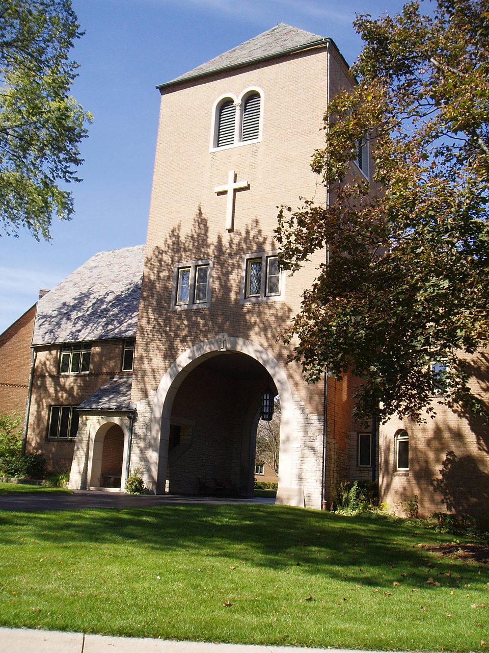Founded in 1863, the Wisconsin Lutheran Seminary has been located in Mequon since 1929. Its campus entrance is pictured here in 2007.