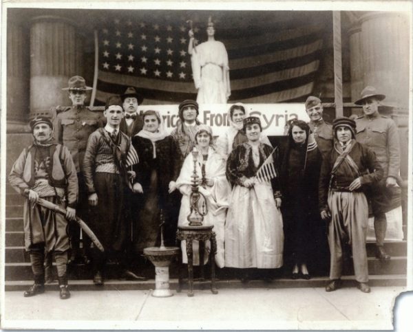 Members of Milwaukee's Syrian community pose for a photograph in 1918.