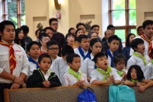 Youth members of the Vietnamese Catholic community were also a part of the 40th anniversary celebration.