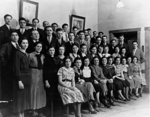 Members of the Italian Chorus, predecessor to the Florentine Opera Company, pose for a photograph in 1934.
