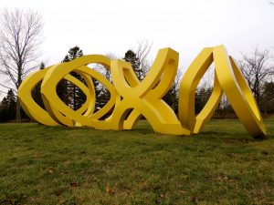"""Trio"" by George Sugarman, 1972-1973 is one of the many outdoor sculptures visitors to the Lynden Sculpture Garden can see."
