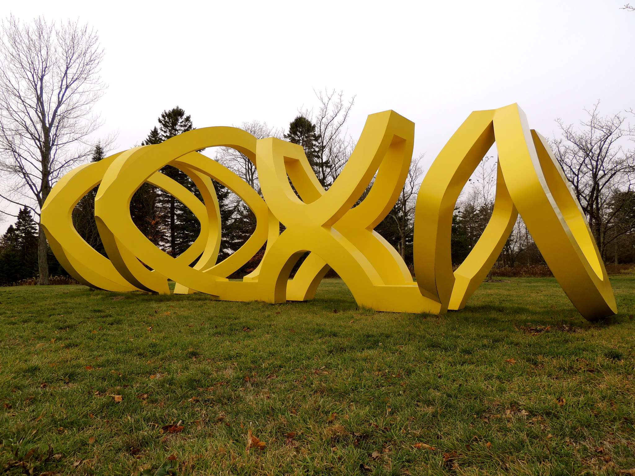 """""""Trio"""" by George Sugarman, 1972-1973 is one of the many outdoor sculptures visitors to the Lynden Sculpture Garden can see."""