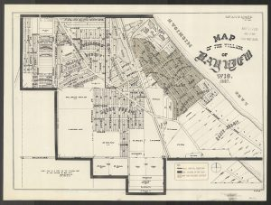 This map, copied in 1919, shows the Village of Bay View as it appeared in 1887.