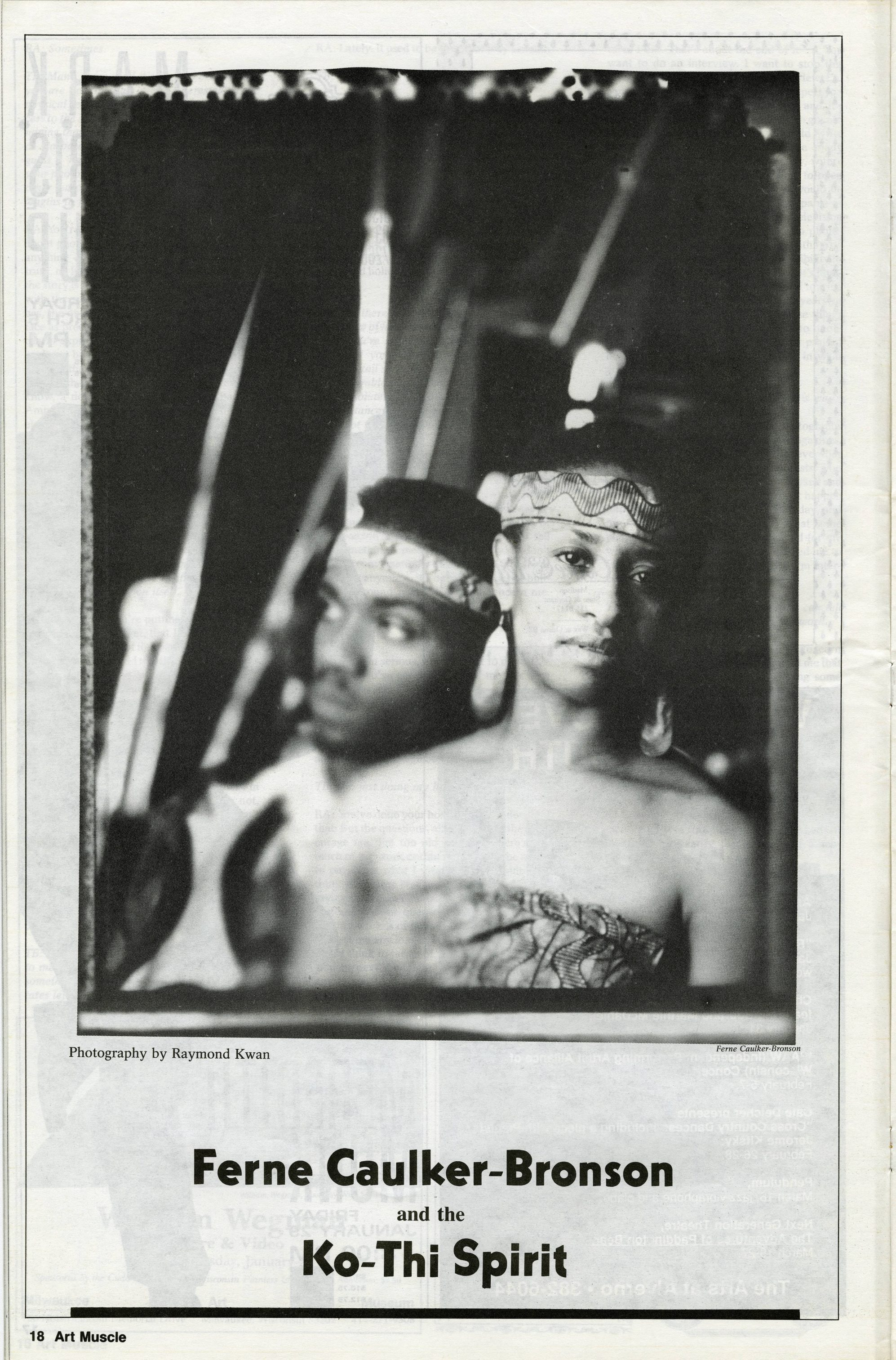 Ferne Caulker-Bronson, pictured here, founded the Ko-Thi Dance Company in 1969.
