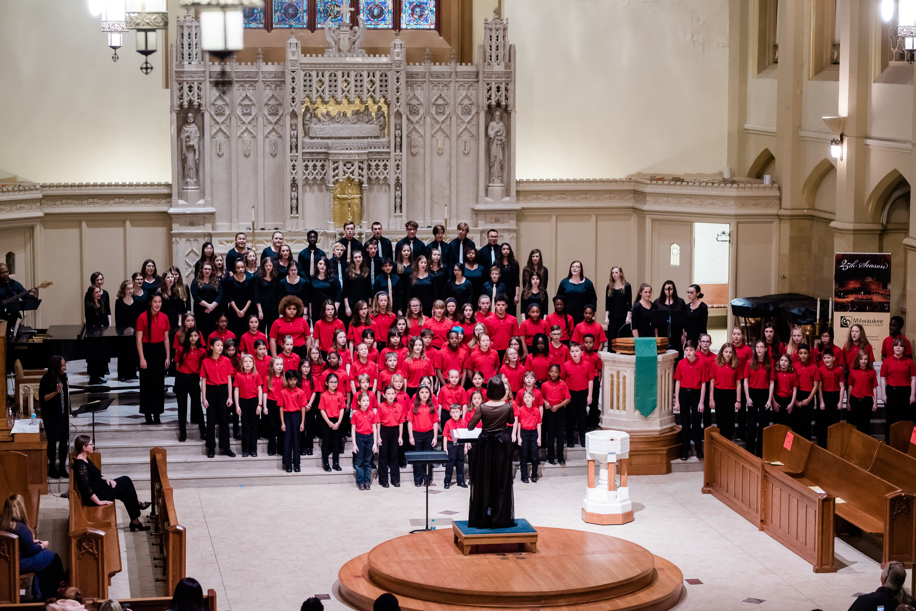 On May 18, 2019, the Milwaukee Children's Choir celebrated its 25th anniversary with a special concert held at St. Sebastian Parish.
